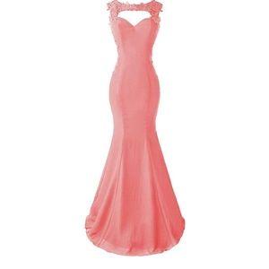 Dresses & Skirts - Pink mermaid floor length gown
